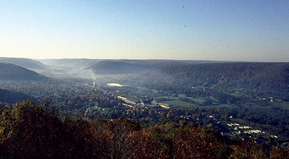 Port Allegany as seen from old TV tower Hilltop